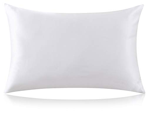 ZIMASILK 100% Mulberry Silk Pillowcase for Hair and Skin,Both Side 19 Momme Silk, 1pc (Queen 20''x30'', Ivory)