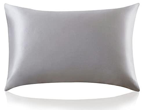 ZIMASILK 100% Mulberry Silk Pillowcase for Hair and Skin ,Both Side 19 Momme Silk, 1pc (Queen 20''x30'', Dark...