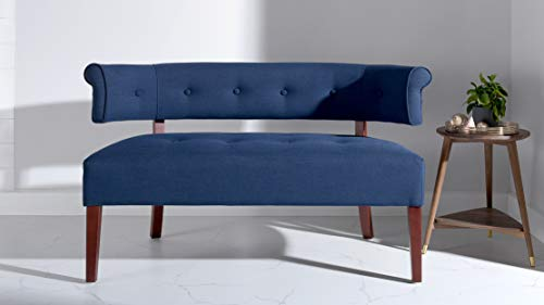 Jennifer Taylor Home Jared Collection Modern Chic Stylish Hand Tufted Armless Settee Bench with Wooden Legs,...