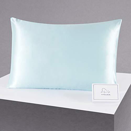 ALASKA BEAR Silk Pillowcase for Beauty Sleep, Pure Genuine 22 Momme Mulberry Silk Crepe Pillow Case Cover for...