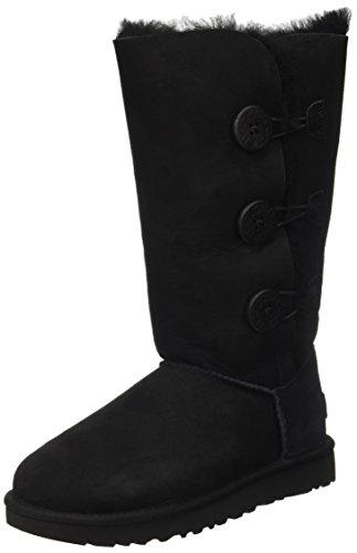 UGG Women's Bailey Button Triplet II Winter Boot, Black, 11 B US