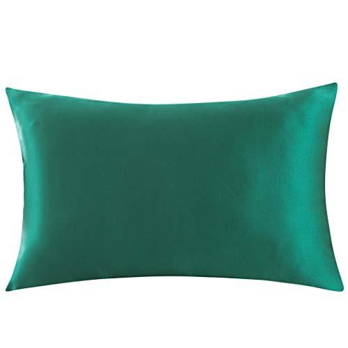 ZIMASILK 100% Mulberry Silk Pillowcase for Hair and Skin,with Hidden Zipper,Both Sides 19 Momme Silk, 1pc...