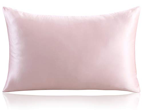 ZIMASILK 100% Mulberry Silk Pillowcase for Hair and Skin ,Both Side 19 Momme Silk, 1pc (Queen 20''x30'', Pink)