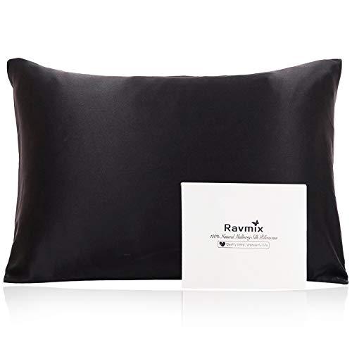 Ravmix 100% Silk Pillowcase for Hair and Skin with Hidden Zipper, Both Sides 21Momme Mulberry Silk, 1PCS,...