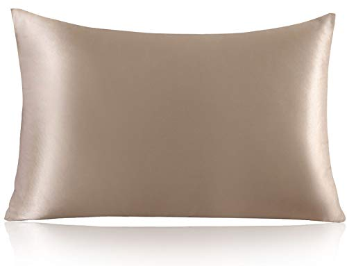 ZIMASILK 100% Mulberry Silk Pillowcase for Hair and Skin,with Hidden Zipper,Both Side 19 Momme Silk,600 Thread...