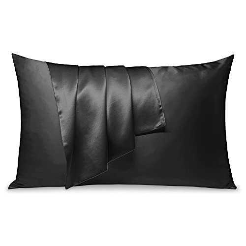 LULUSILK Mulberry Silk Pillowcase for Hair and Skin, 100 Pure Silk Pillow Case Cover 16 Momme with Hidden...