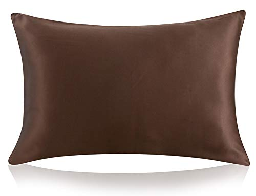 ZIMASILK 100% Mulberry Silk Pillowcase for Hair and Skin,with Hidden Zipper,Both Side 19 Momme Silk, 1pc...