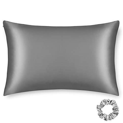 ALASKA BEAR Silk Pillowcase Men Women Beauty Anti Face Wrinkle Pillow Slip Case Real Mulberry Silk Queen Size...