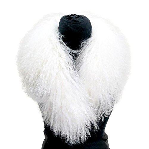 Mongolian Fur Collar Scarf - SPRINGWIND Women's Winter Collars Scarves Neck Warmer for Coat