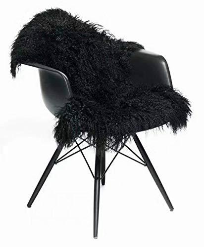 Seek4comfortable Genuine Tibetan Rug, Mongolian Lamb Sheepskin Curly Fur Pelt Throw Fur Area Rug Carpet...