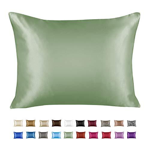 ShopBedding Luxury Satin Pillowcase for Hair – Standard Satin Pillowcase with Zipper, Jaguar (1 per Pack)...