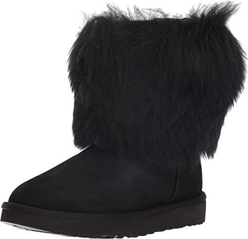 UGG Short Sheepskin Cuff Boot Black 7