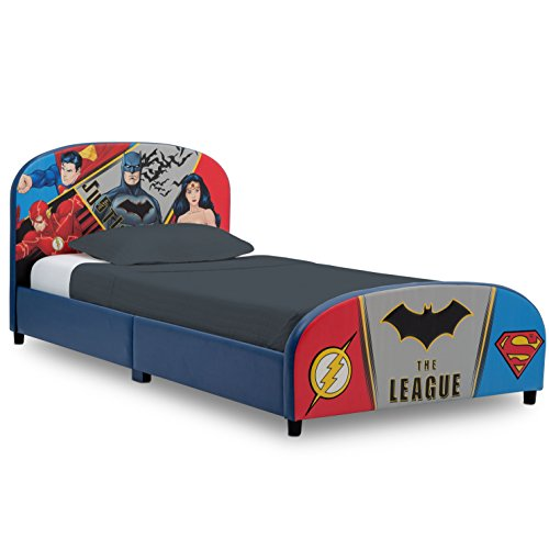Delta Children Upholstered Twin Bed DC Comics Justice League
