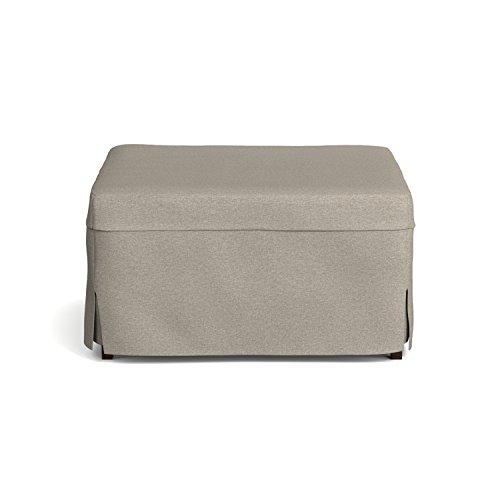 Handy Living Space Saving Folding Ottoman Sleeper Guest Bed, Gray/Brown, Twin