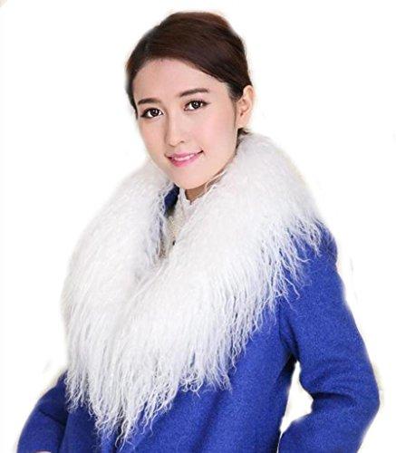 CX FUR Real Fur Detachable Collar Mongolian collar