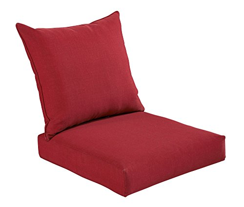 Bossima Indoor/Outdoor Rust Red Deep Seat Chair Cushion Set,Spring/Summer Seasonal Replacement Cushions.