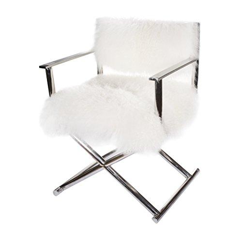 A&B Home Kathy Ireland, 24 x 21.5 x 32-Inch Mongolian Sheep Fur Director's Chair