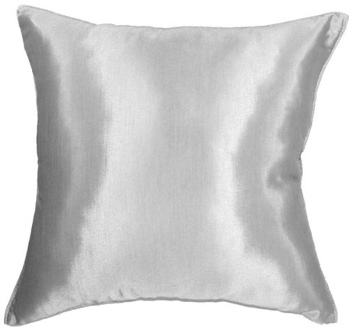 Artiwa 16'x16' Silk Couch Bed Decorative Throw Accent Pillow Cover : Solid Silver Grey