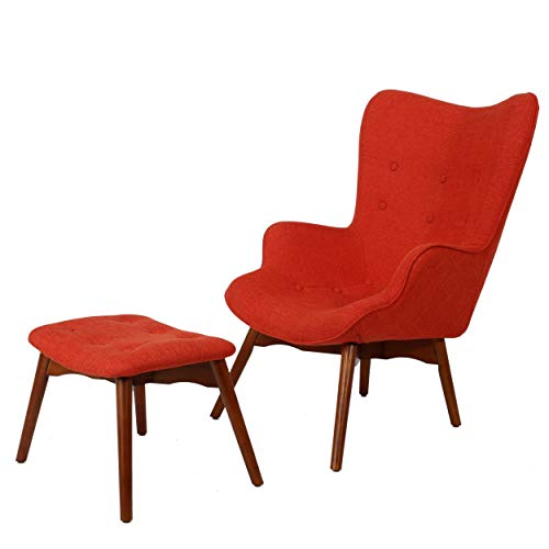 Christopher Knight Home Hariata Fabric Contour Chair Set, Muted Orange