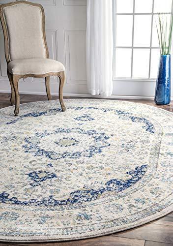 nuLOOM Paisley Verona Vintage Persian Area Rug, 6' 7' x 9' Oval, Blue