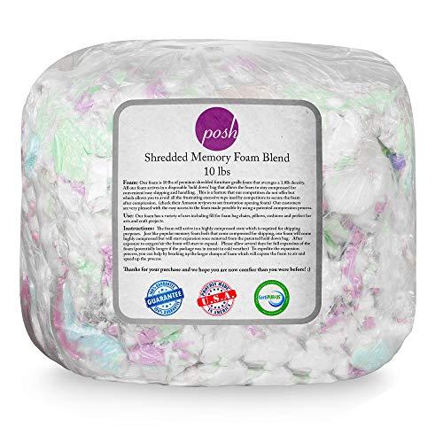 Posh Creations Foam Filling Bean Bag Refill, 10lbs, Multi-Color