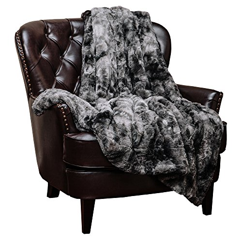 Chanasya Super Soft Fuzzy Faux Fur Throw Blankets - Fluffy Plush Lightweight Cozy Snuggly with Sherpa for...