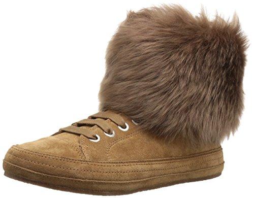 UGG Women's Antoine Fur Fashion Sneaker, Chestnut, 7.5 M US