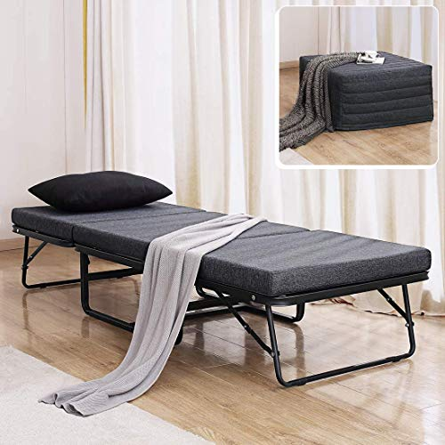 TATAGO Premium Ottoman Folding Bed with Steel Mesh Wire Lattice Base500lbs Max Weight Capacity, Extra-Thick...