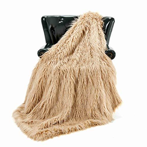 Homey Forte Luxury Faux Fur Throw Blanket Plush Long Shaggy Super Soft Throw Mongolian Fluffy Fur Style...