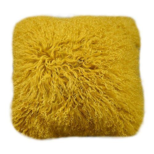Lichao E Cloud Mongolian Lamb Fur Pillow Cover Luxurious Sheep Skin Gift Cushion Cover Soft Plush Curly Pillow...