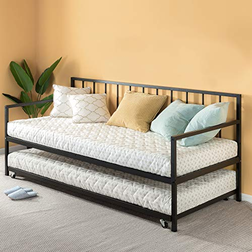 Zinus Eden Twin Daybed and Trundle Set / Premium Steel Slat Support / Daybed and Roll Out Trundle Accommodate...