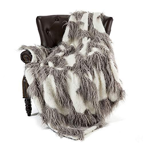 FFLMYUHUL I U Super Soft Faux Fur Throw Blanket & Bedspread Mongolian Fur Blanket Long Faux Fur Blanket...