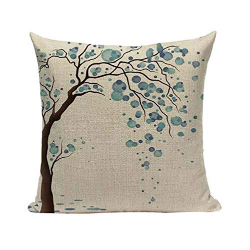LYN Cotton Linen Square Throw Pillow Case Decorative Cushion Cover Pillowcase for Sofa 18'X 18' Lyn-82 (7)