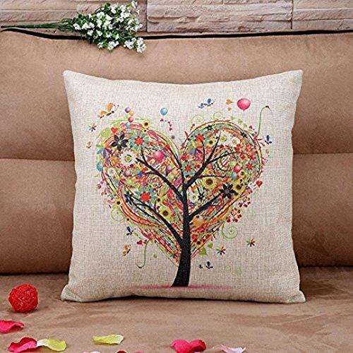 Pillow Cases, IEason Pillow Case Sofa Waist Throw Cushion Cover Home Decor (D)